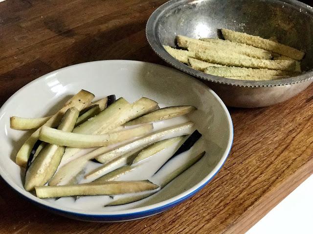 aubergine fries