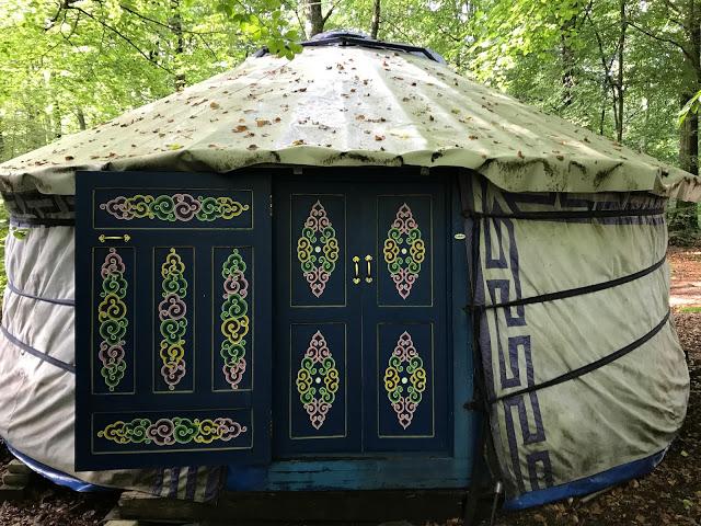 Nyrups naturhotell yurt, Sweden