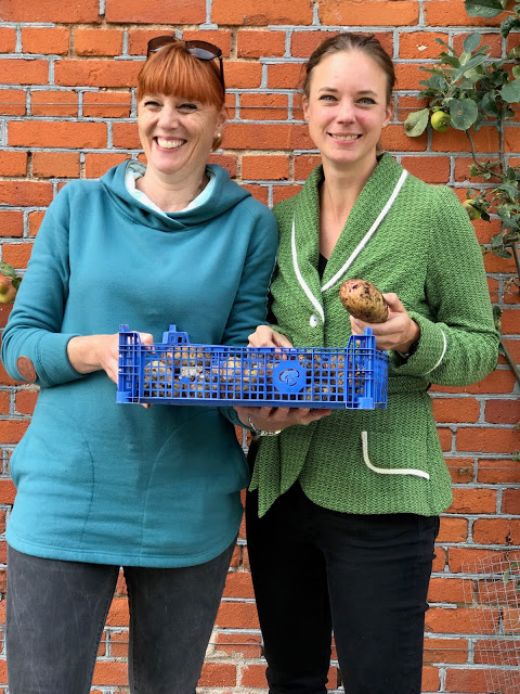 Lotta Ranert and Titti Qvarnstrom, leaders of  pure food camp, Skane, Sweden