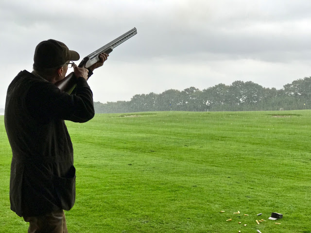 clay pigeon shooting,  pure food camp, Skane, Sweden