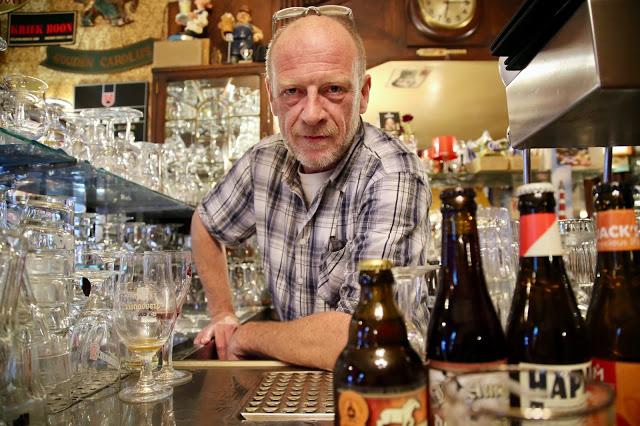 owner of Oud Arsenaal bar, Antwerp, Belgium