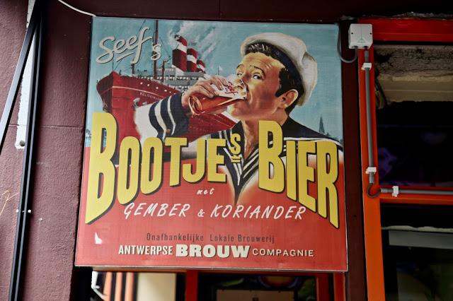 beer sign, Antwerp, Belgium