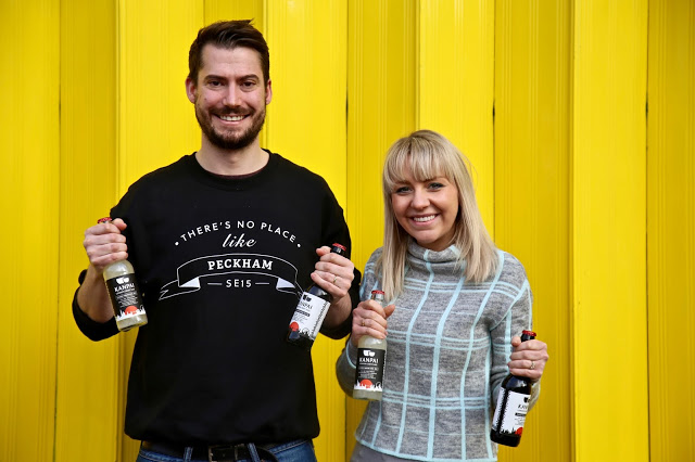 Tom and Lucy Wilson of Kanpai sake brewery in Peckham, London