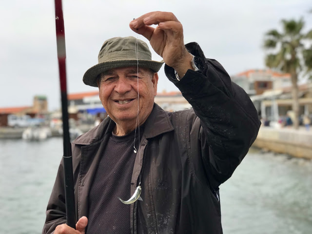fisherman, Cyprus pic: Kerstin Rodgers/msmarmitelover.com