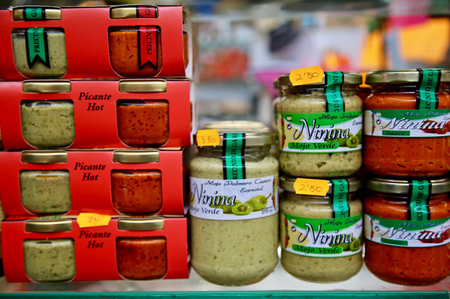 Mojo sauces, Santa Cruz de la Palma, Canary Islands Pic: Kerstin Rodgers/msmarmitelover