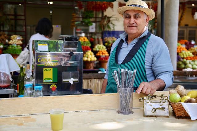 sugar cane juice man, Funchal, Madeira,  pic: Kerstin Rodgers/msmarmitelover