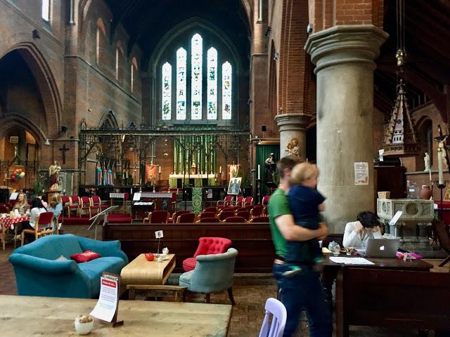 Sanctuary café, Sheriff road centre, West Hampstead. Pic: Kerstin Rodgers