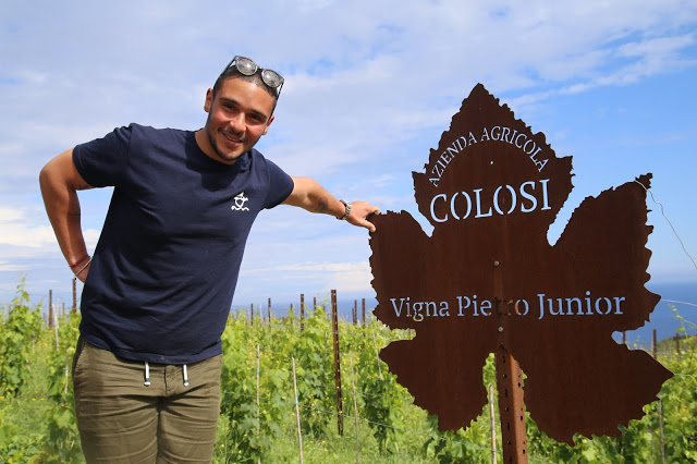 Pietro Junior, Colosi vineyard, Salina, Sicily