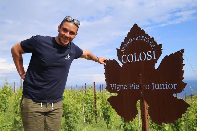 Pietro Junior, Colosi vineyard, Salina, Sicily