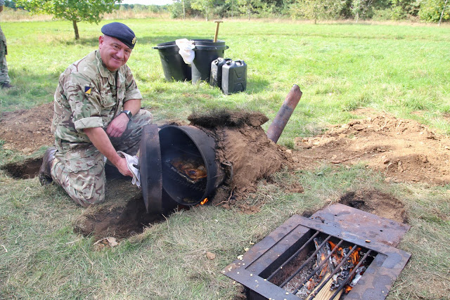 Field mud oven, 167 catering corps, Prince William of Gloucester barracks pic: Kerstin Rodgers/msmarmitelover.com