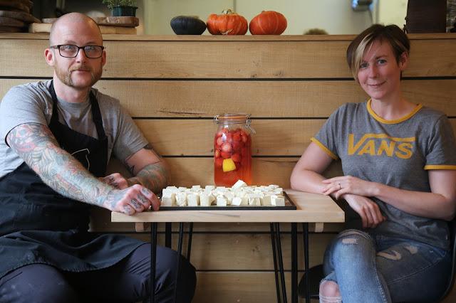 Chef matt nutter and Siobahn, of The Allotment restaurant, Stockport, Manchester pic: Kerstin Rodgers/msmarmitelover.com