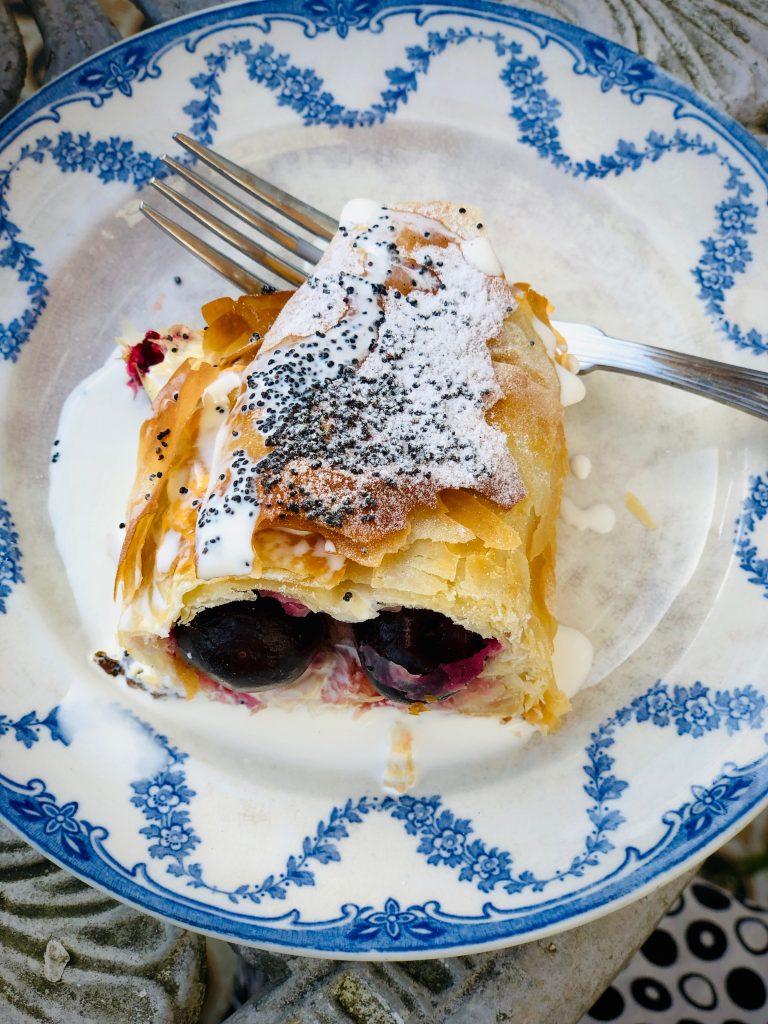 sour cherry strudel pic: Kerstin Rodgers/msmarmitelover.com