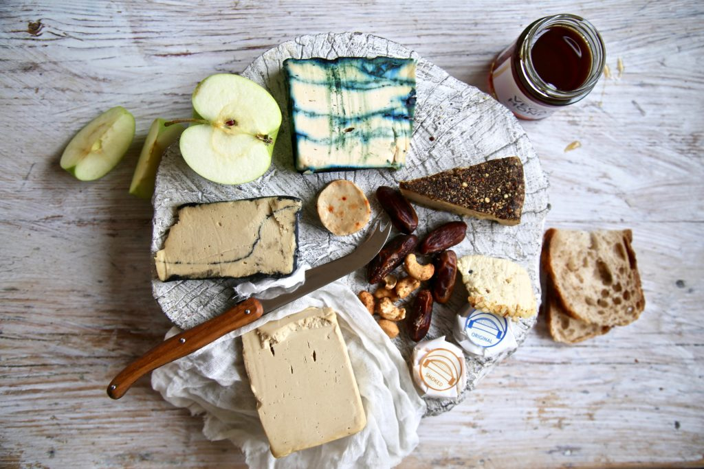 Vegan cheese board pic: Kerstin Rodgers/msmarmitelover.com