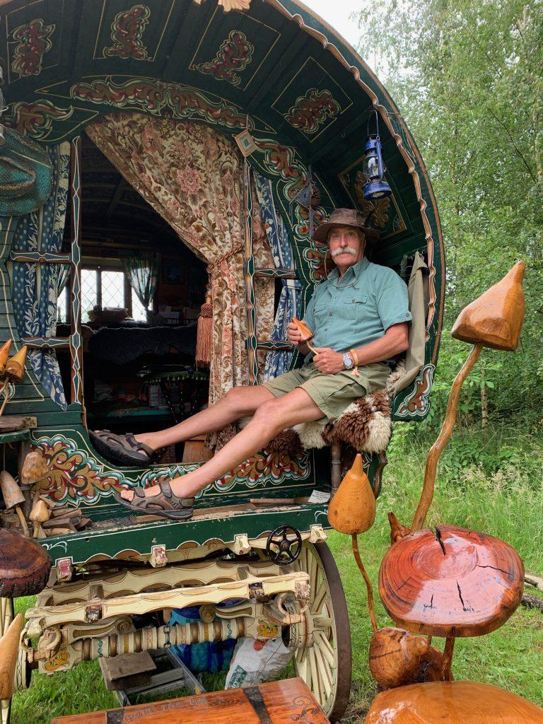 Pete Waggon the mushroom man pix: Kerstin Rodgers/msmarmitelover.com