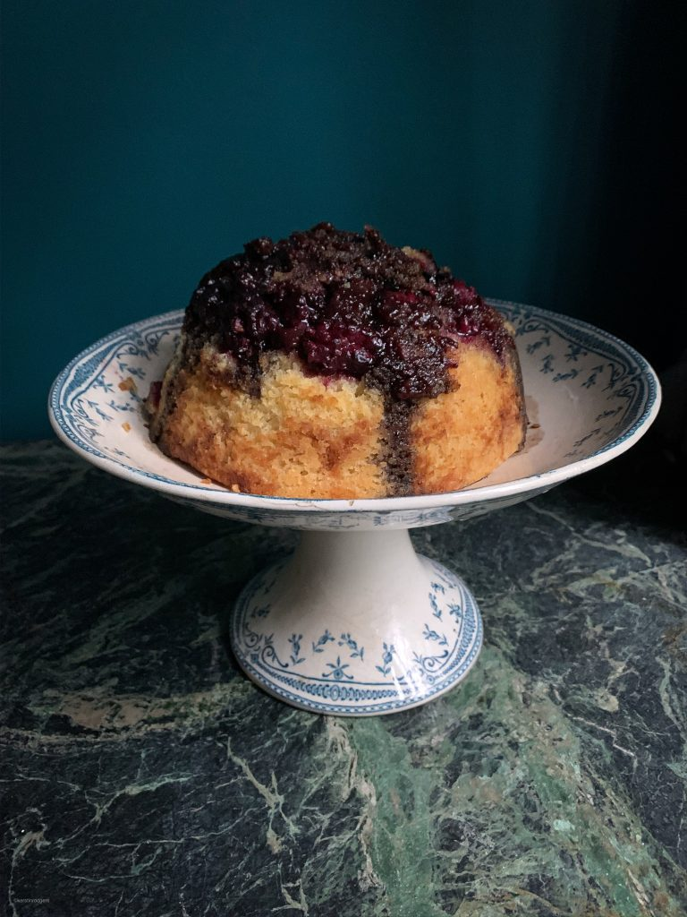 blackberry and liquorice steamed pudding pic:Kerstin Rodgers/msmarmitelover.com