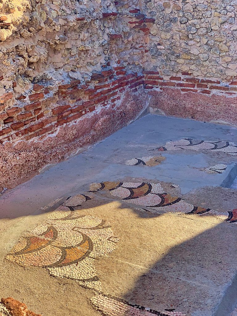 Roman baths at Porte Torre, Sardinia pic: Kerstin rodgers/msmarmitelover.com