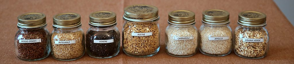 Selection of Piedmont rice, Italy Pic: Kerstin Rodgers/msmarmitelover.com