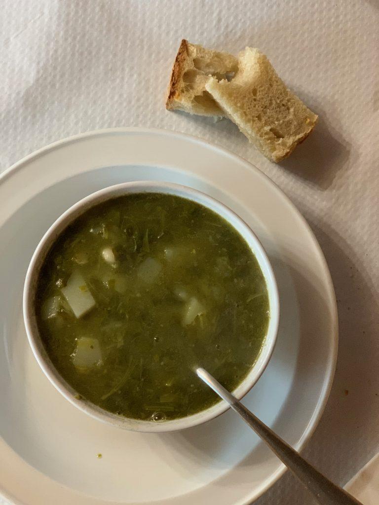 Ventas de Naron and porrusalda soup., camino De Santiago pic: Kerstin rodgers/msmarmitelover.com