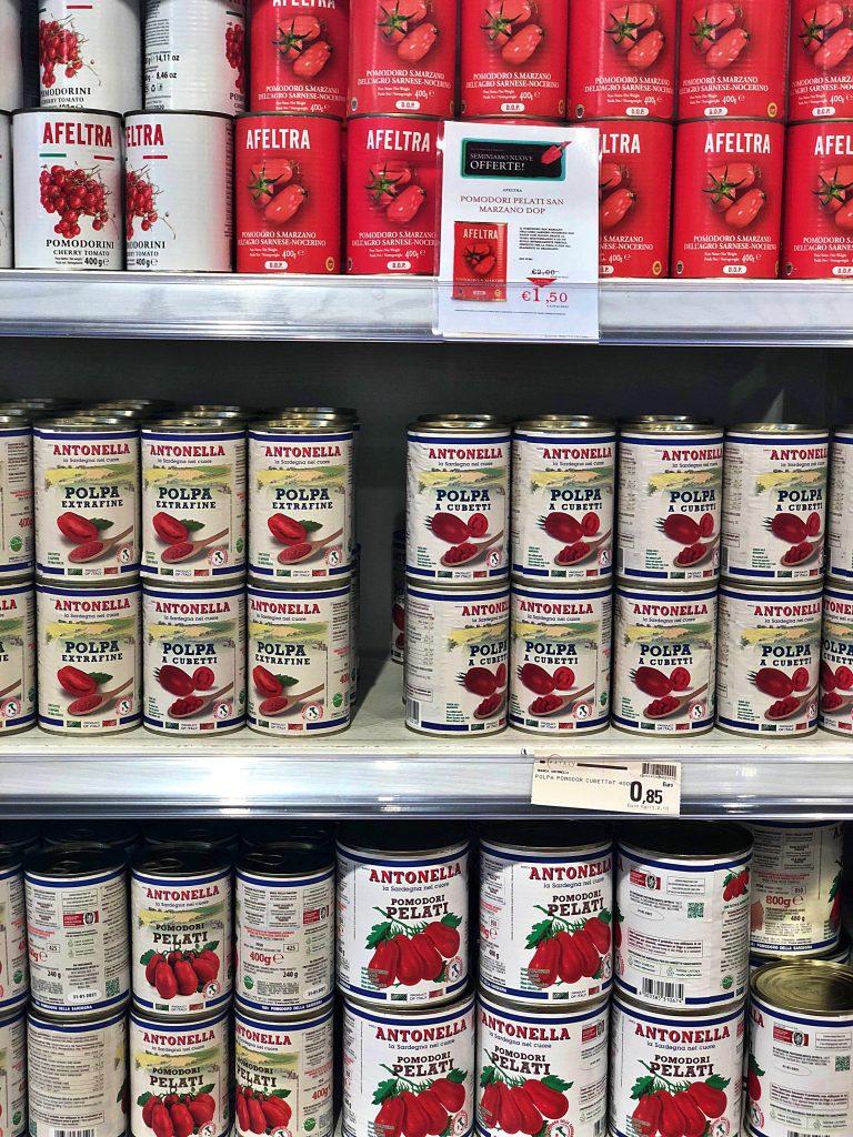 tin cans tomato milan pic: Kerstin rodgers/msmarmitelover.com