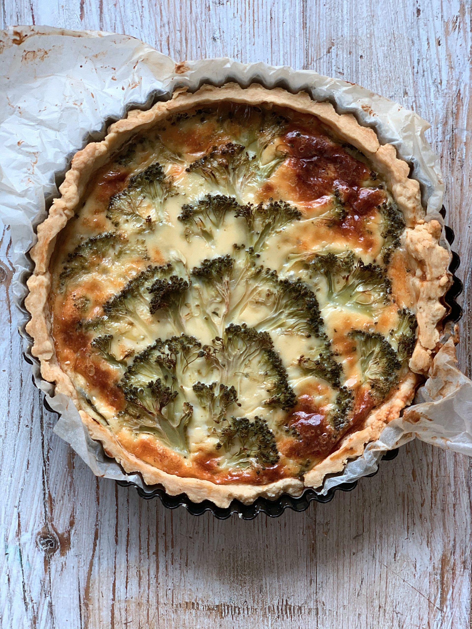 broccoli blue cheese tart pic: Kerstin rodgers/msmarmitelover.com