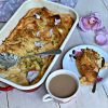 rose, pistachio and saffron bread and butter pudding pic: Kerstin rodgers/msmarmitelover.com