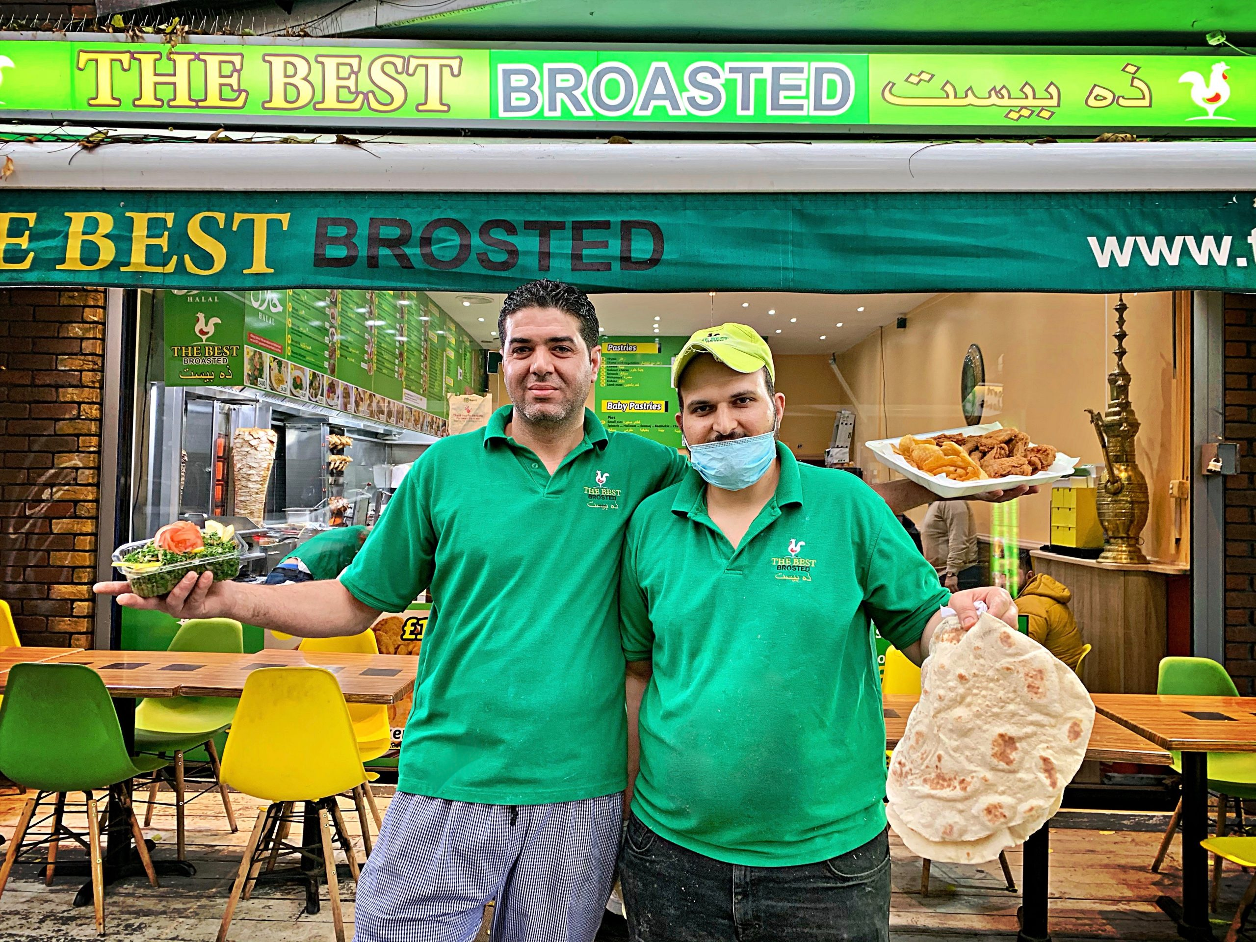 The Best Broasted, Willesden restaurant run by Syrian refugees pic:Kerstin Rodgers/msmarmitelover.com