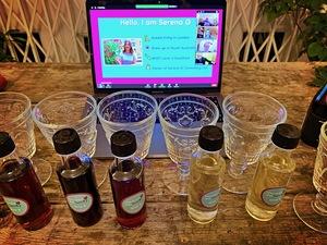 Selena G zoom wine tasting pic: Kerstin rodgers/msmarmitelover.com