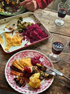 Noble House prepared vegetarian Christmas dinner pic: Kerstin rodgers/msmarmitelover.com