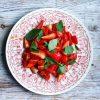 strawberry tomato holy basil salad pic: Kerstin rodgers/msmarmitelover.com