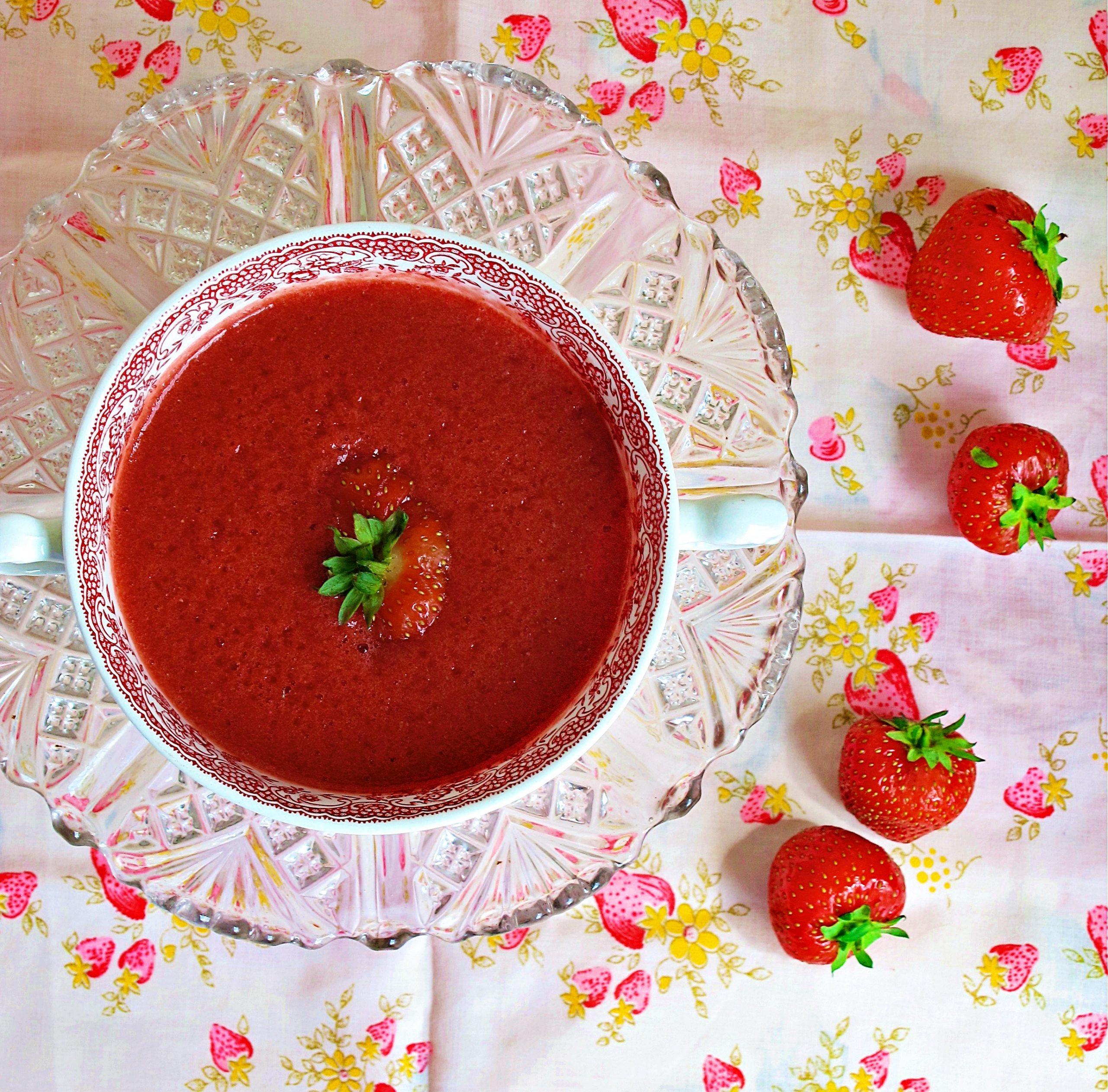 strawberry hibiscus soup pic: Kerstin rodgers/msmarmitelover.com